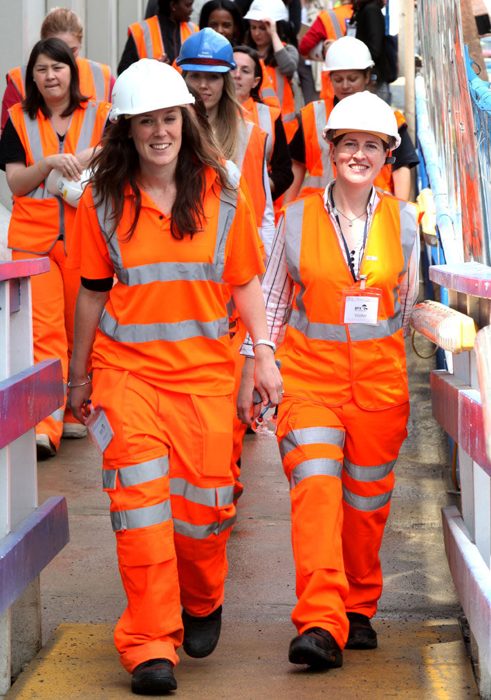 Women on construction site during National Women in Engineering Day